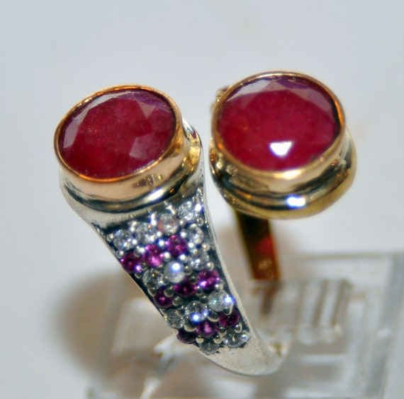 Sterling Silver Ruby Vermeil Ring - image 2