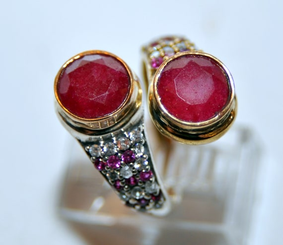 Sterling Silver Ruby Vermeil Ring - image 3