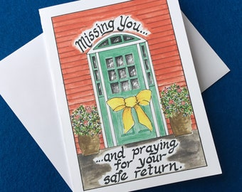 Military Appreciation Card/ Missing You Card/ Greeting Card
