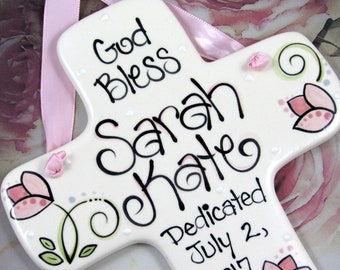 Personalized Baby Dedication Gifts for Girls // Personalized Dedication Cross