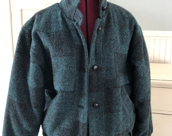 1990s Land s End Plaid Foxhunt Jacket 8ee0cd2b8