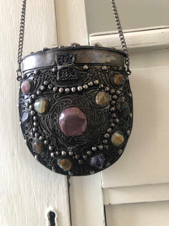1970s Sajai Metal Purse Boho Accessory