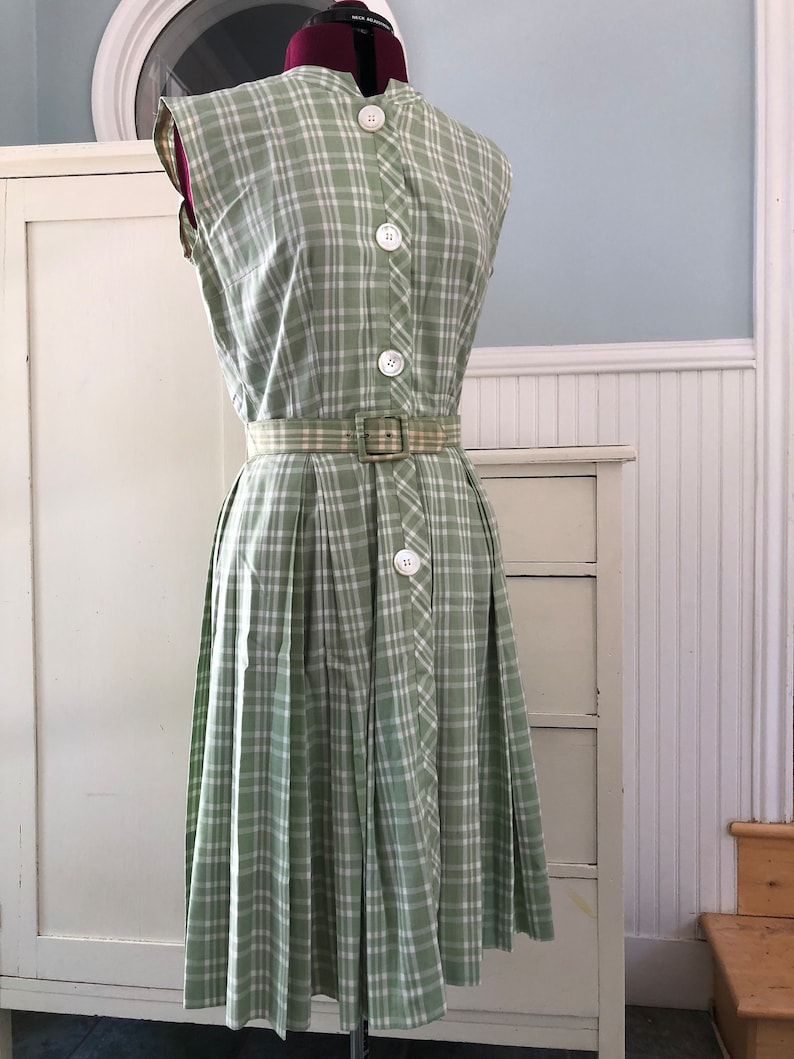 fb6907ab8a6 The Sage Shirtdress Vintage 50s Full Circle Skirt Cotton