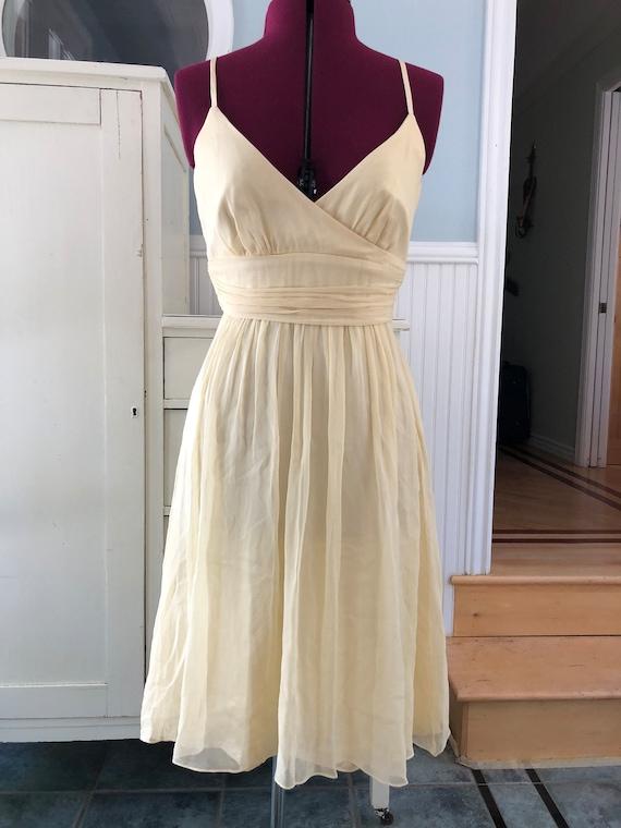 Buttercream yellow chiffon ballerina faux wrap pa… - image 4