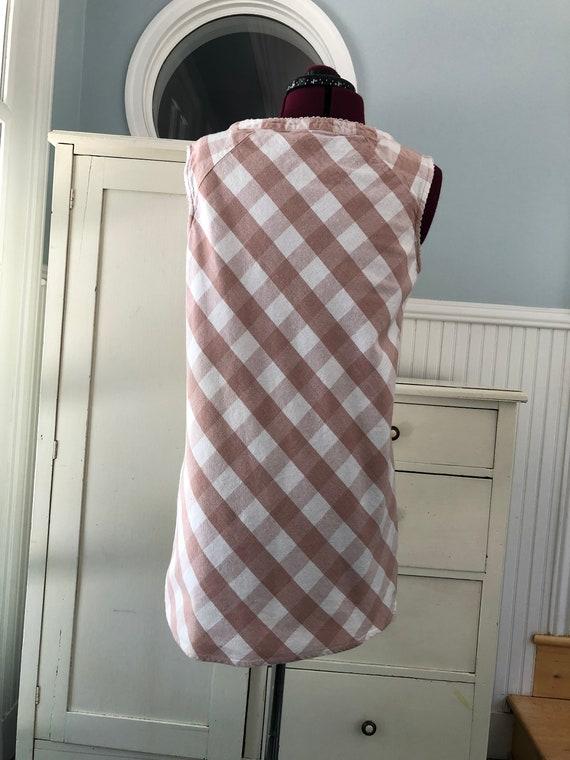 Vintage Pink Dress/Gingham Dress/Dusty pink/Paste… - image 5