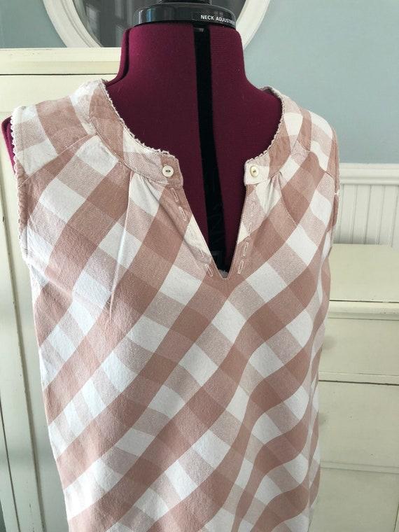 Vintage Pink Dress/Gingham Dress/Dusty pink/Paste… - image 2