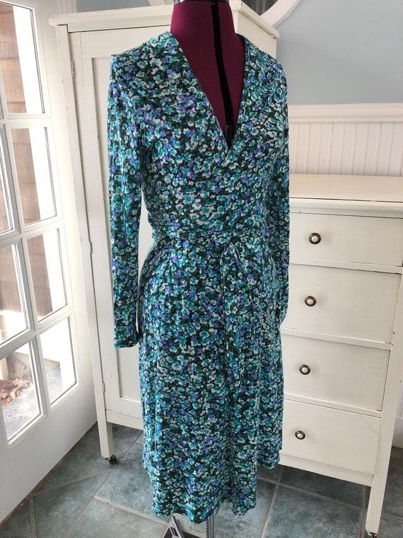 Vintage 1970s Wrap Dress - Floral 70s Wrap Dress -