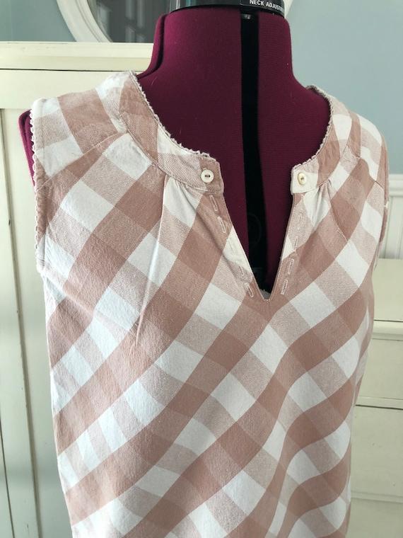Vintage Pink Dress/Gingham Dress/Dusty pink/Paste… - image 4