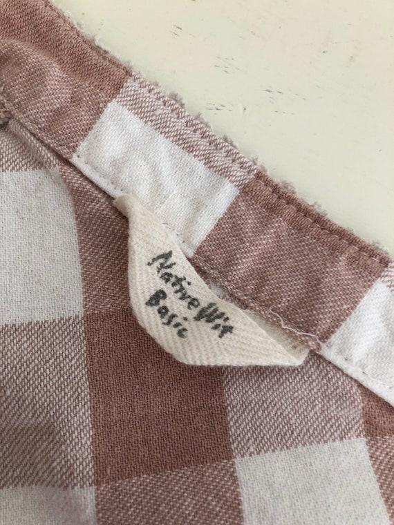 Vintage Pink Dress/Gingham Dress/Dusty pink/Paste… - image 6