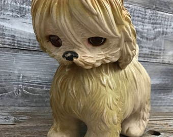 Vintage 1964 Edward Mobley Sleepy Eyed Rubber Dog Squeak Toy