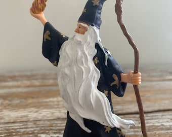 """Papo Wizard Fantasy Action Fiqure Merlin Tales and Legends 4"""" Tall"""