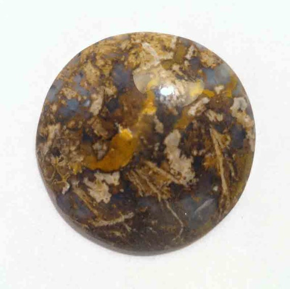 Mexican Lace Agate 30X22X6.5mm oval cabochon