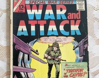 War and Attack - Special War Series - Vol. 4 No. 3, October 1965, Charlton Comics Group - Vintage Comic Book - Collectible Comic