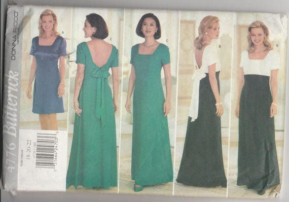 Butterick Ladies' Formal Dress Pattern No. 4776 Sizes 18, 20, 22