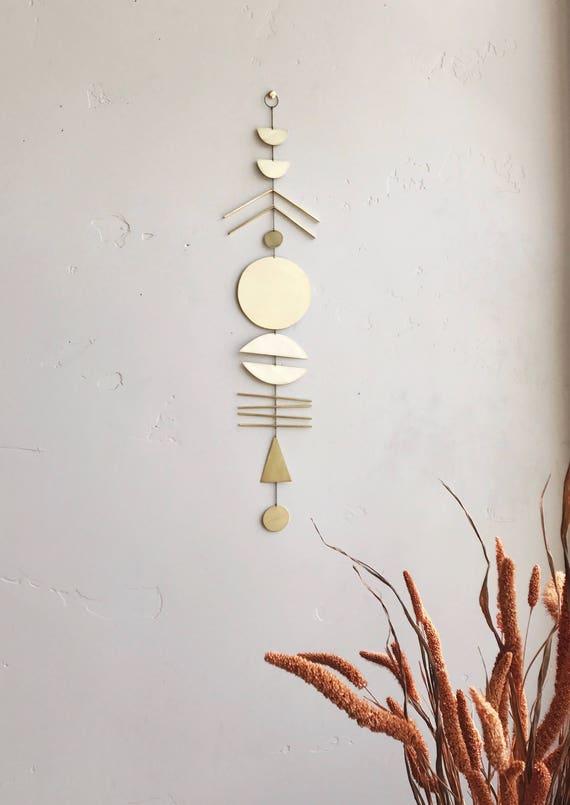 """Brass Wall Hanging - """"arine"""" - made-to-order - 3 week turnaround time"""