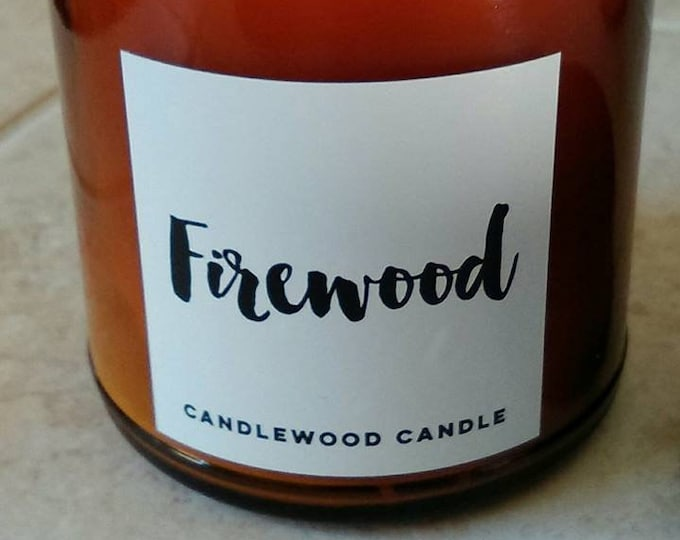 Featured listing image: FIREWOOD -  ON SALE Authentic Wood Burning  Candle  9 oz - Simply like no others! Best Seller since 2012!