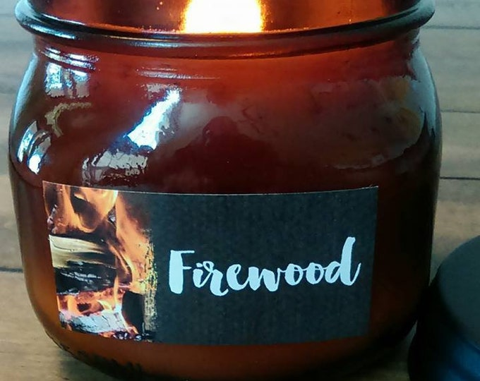 FIREWOOD -  LIMITED EDITION -  Authentic Wood Burning Wood Wick Soy Candle  16 oz - Simply like no others! Best Seller since 2012!
