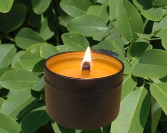 SANTAL 33 - Crackling Wood Fire Natural Soy Wax Candle in Black Tin with Lid 5 oz