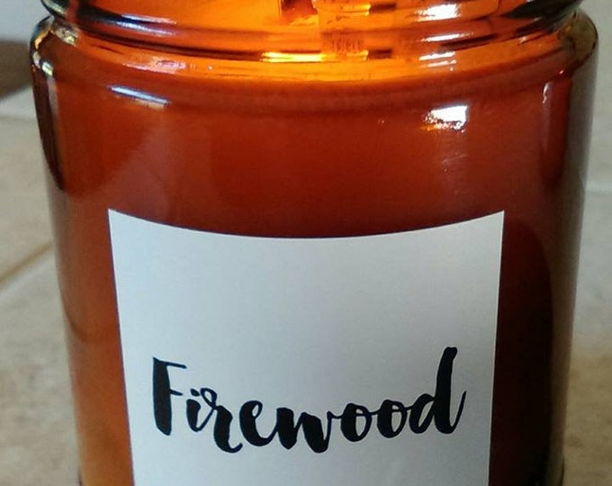 FIREWOOD - White Label-Cotton Wick  Authentic Wood Burning Soy Candle  9 oz - Simply like no others! Best Seller since 2012!