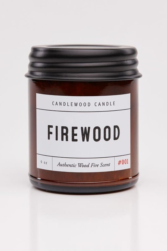 FIREWOOD - Wood Fire - ON SALE Genuine Wood Burning Wood Wick Soy Wax Candle 9oz - Simply like no others! Best Seller since 2012!