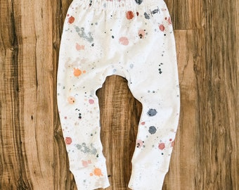 French Terry gusset pants, choose your print