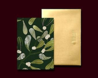 Under The Mistletoe | Folded Greeting Card