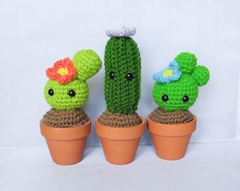 Pet Cactus, Amigurumi Cactus, Forever Plant, Cute Home Decor, Forever Plant