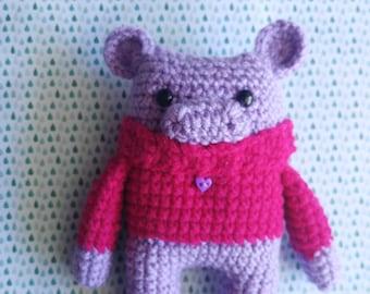 Ready to Ship Cranberry the Hippo - Crochet Hippo - Amigurumi - Stuffed Animal – Cozy Critter