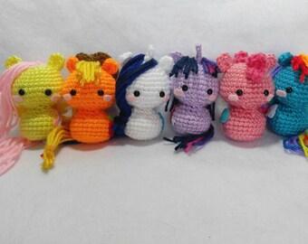 dd2f15dde20c8 Crochet My Little Pony Amigurumi set