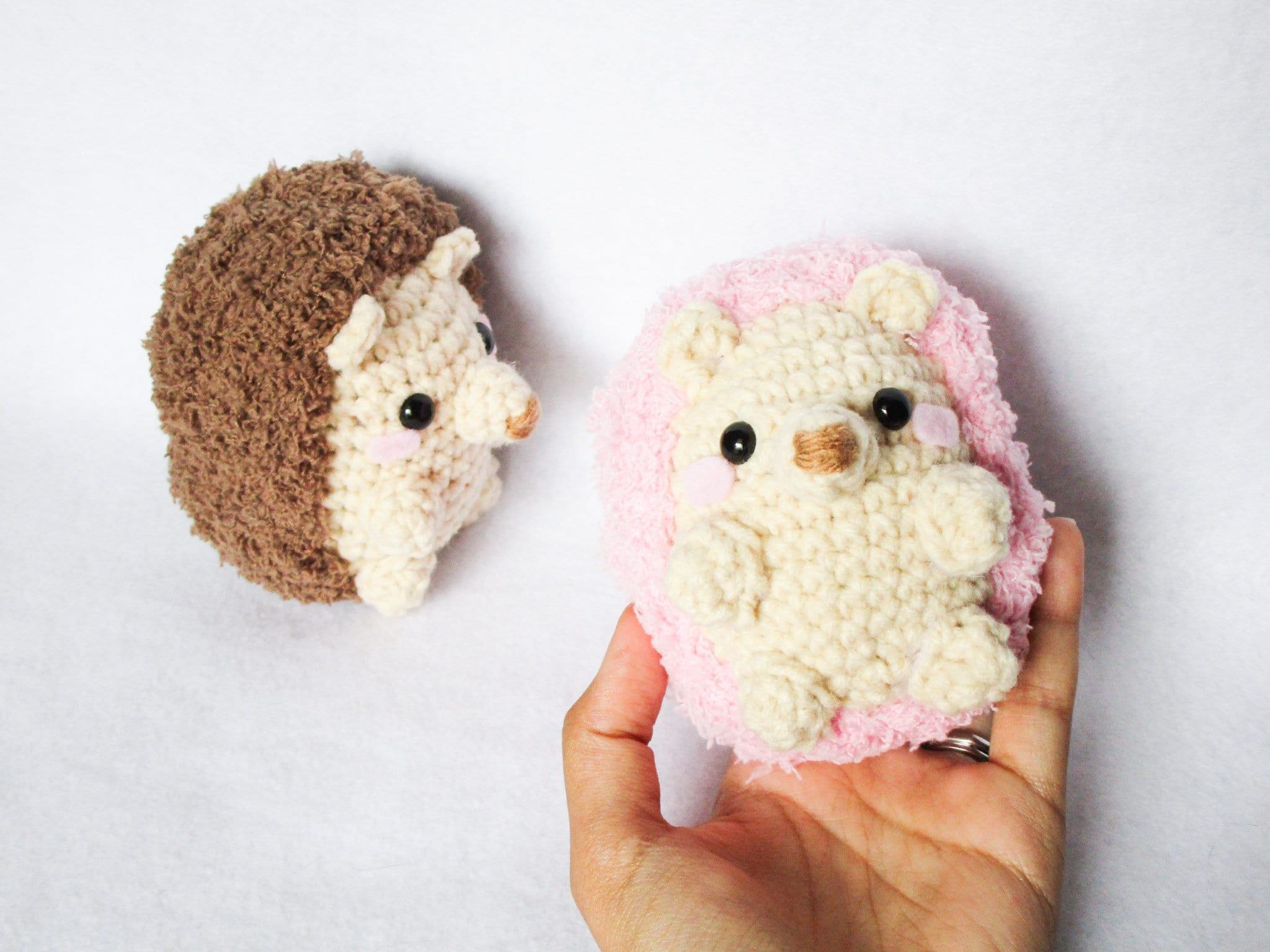 Hedgehog Crochet Amigurumi Hedgie Cute Critter Plush Etsy