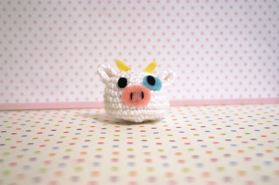 6 Super Cute Crocheted Amigurumi Cow Free Patterns | Crochet cow ... | 379x570