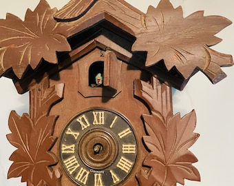 Authentic Vintage Large German 8 Day Cuckoo Clock & Parts