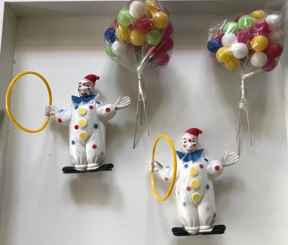 Vintage Clowns Lot of 5 Cake Topper 1991 Figure ToyCake Topper