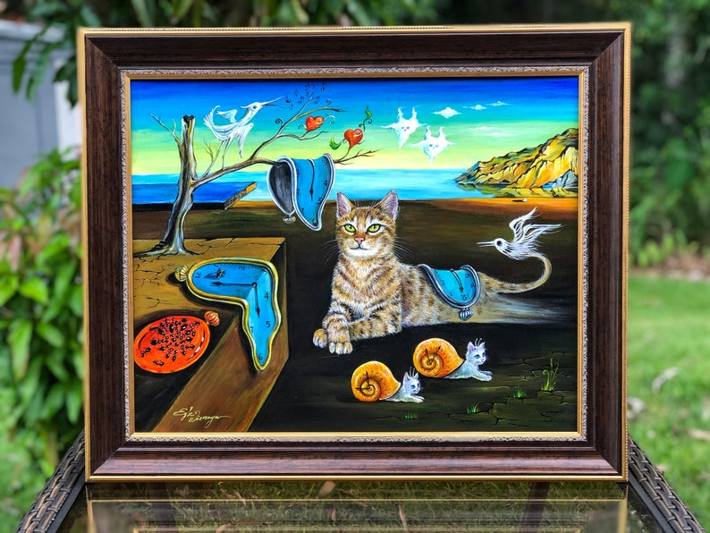 ORIGINAL PAINTING The Purrfect Time   Egle image 0