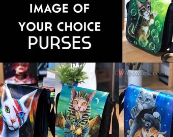 Purrses! IMAGE of YOUR CHOICE! Pick any image from my entire shop! Extra Flaps Available! (Please read description)