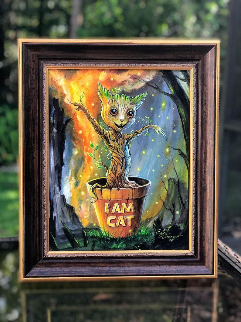 ORIGINAL PAINTING I Am Cat   Egle Wierenga image 0