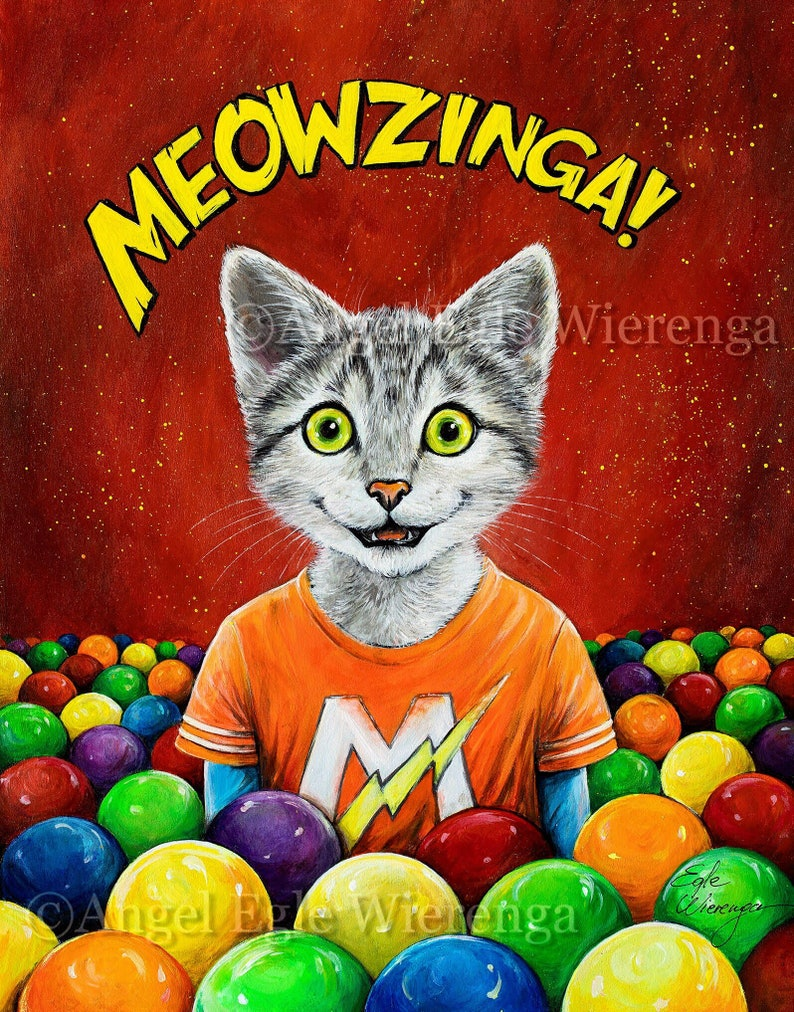 Meowzinga 5x 7and 8x 10 art prints on image 0