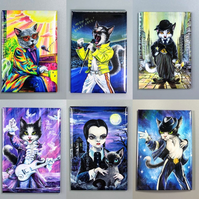 2x 3 Rectangle ART MAGNETS by Angel Egle Any 2