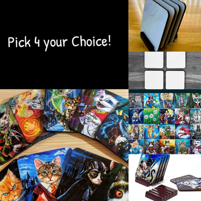Your Choice ART COASTERS by Angel Egle Wierenga KittyWorks image 0