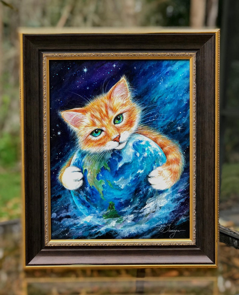ORIGINAL PAINTING It's a Cat's World   by image 0
