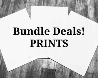 PRINTS - Bundle Sets! Pick Any images from My Entire Shop! Select Size, List your choices at the checkout, Read Item details in Description