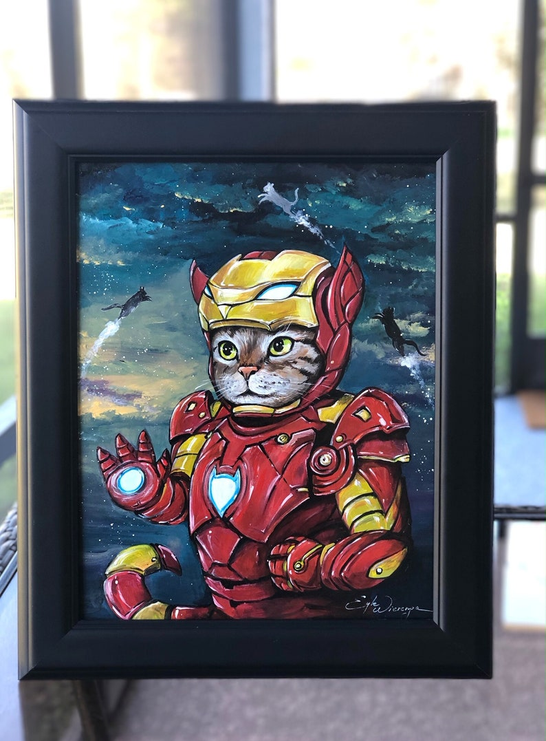 ORIGINAL PAINTING Iron Kitty   Egle Wierenga image 0