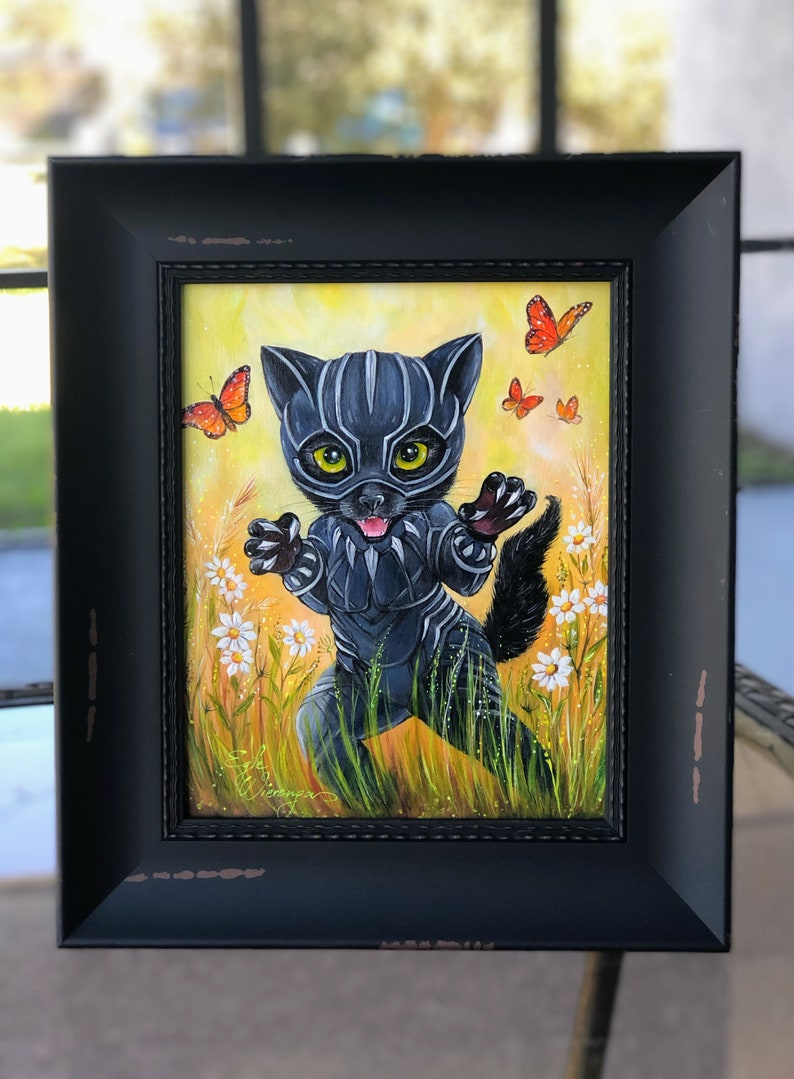 ORIGINAL PAINTING Kitty Panther   by Angel Egle image 0