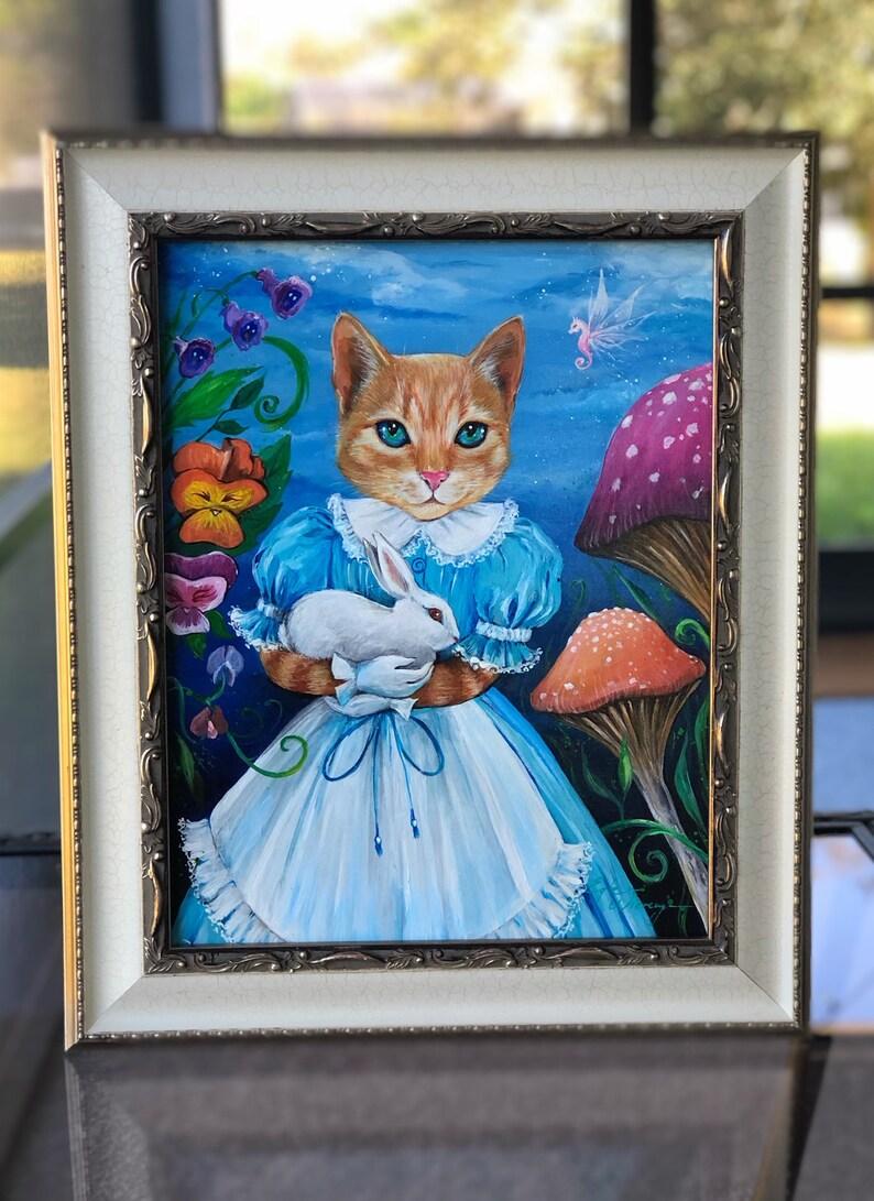 ORIGINAL PAINTING  Alice Cat   Egle Wierenga image 0