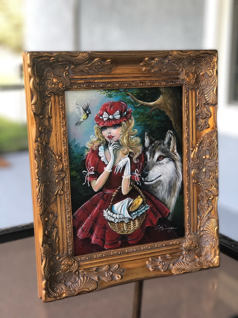 ORIGINAL PAINTING Lil red Hat   by Egle Wierenga image 0