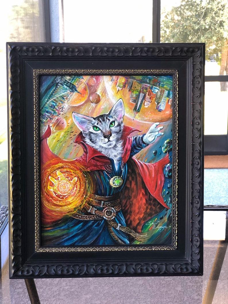 ORIGINAL PAINTING  Kitty Strange   Egle Wierenga image 0