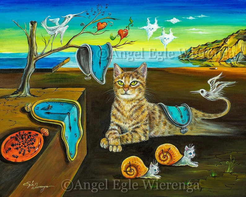 The Purfect Time art print on paper by Angel Egle Wierenga image 0