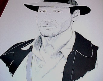 Indiana Jones Black & White Limited Edition 18 x 24 print