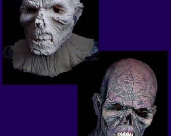 RAW Latex ZOMBIE MASK - Gothic Horror - Adult Size - Limited Edition - Very Creepy!! - Ready to finish!!!
