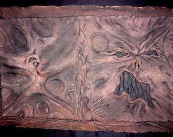Gothic Evil NECRONOMICON Book of the Dead latex BOOK COVER #6 - Painted Latex Casting
